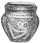 ANCIENT VASE FROM THE MOUNDS OF THE UNITES STATES